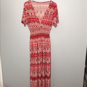 West Loop | red maxi dress size Large